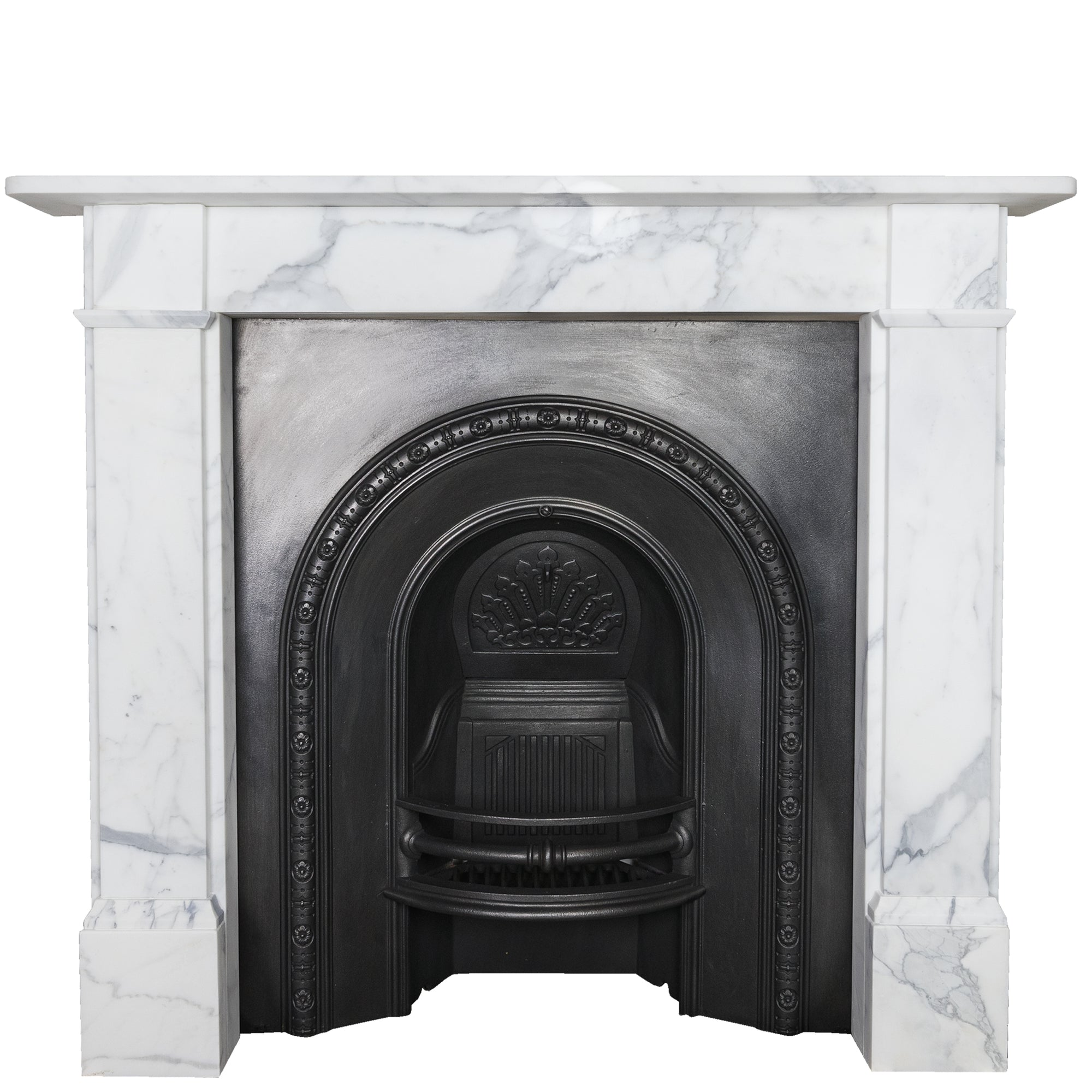Simplistic Arabesque Marble Fireplace Surround | The Architectural Forum