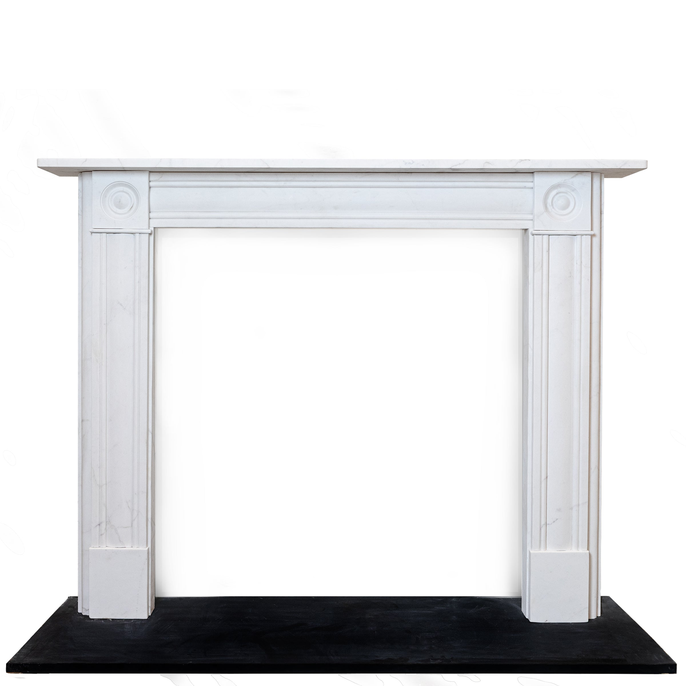 Georgian Style Statuary Marble Fireplace Surround with Roundels