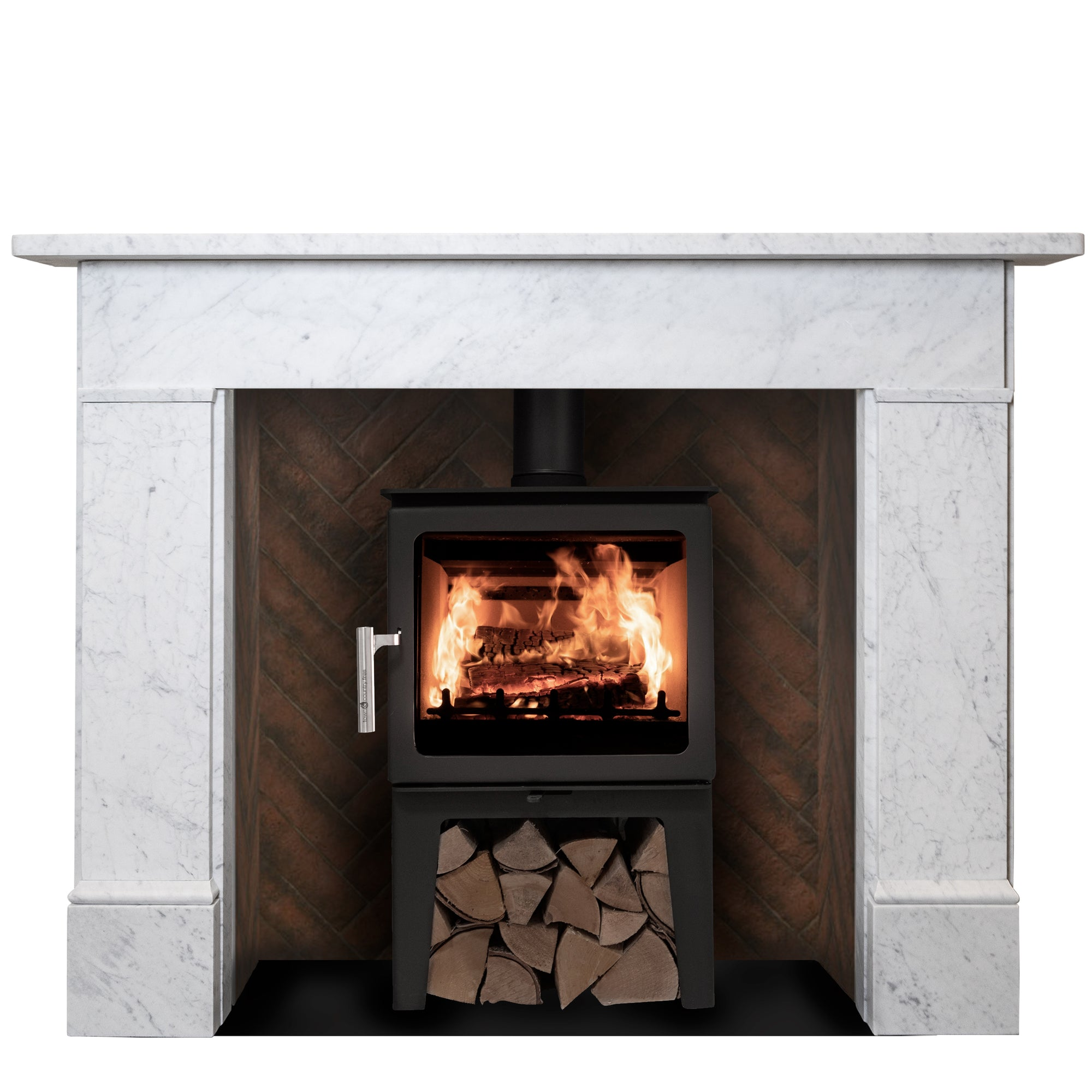 Early Victorian, Late Georgian Style Carrara Marble Fire Surround | The Architectural Forum