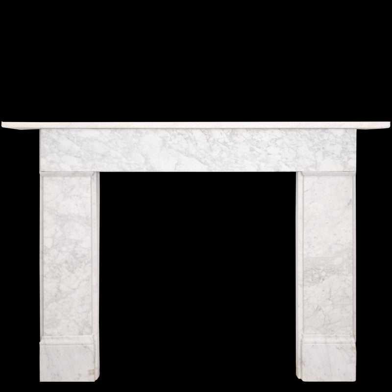 Antique Victorian Carrara Fireplace Surround