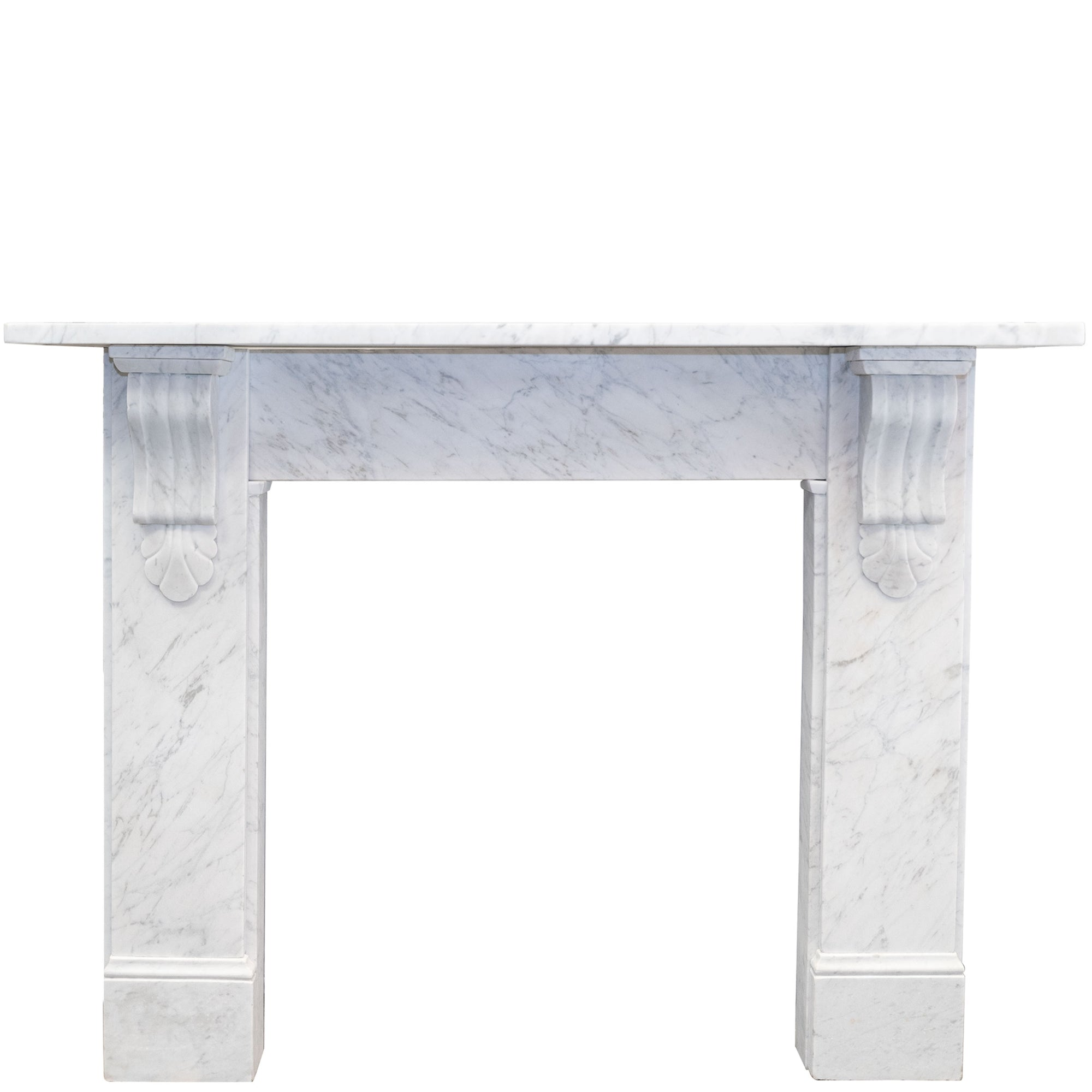 Antique Victorian Marble Fireplace Surround with Corbels
