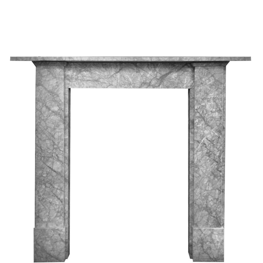 Georgian Style Grey Marble Fireplace Surround - architectural-forum