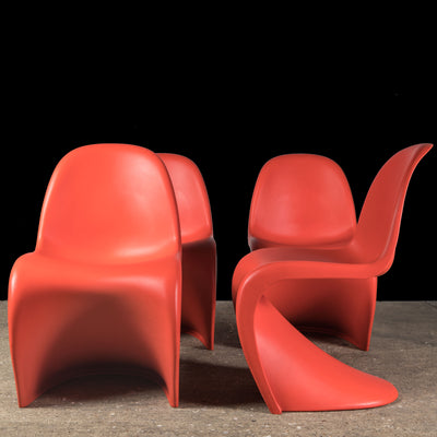 Reclaimed Original Verner Panton S Chair (set of 4) - architectural-forum