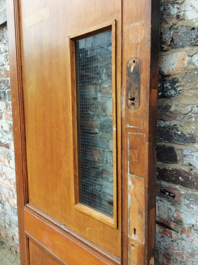 Glazed oak door