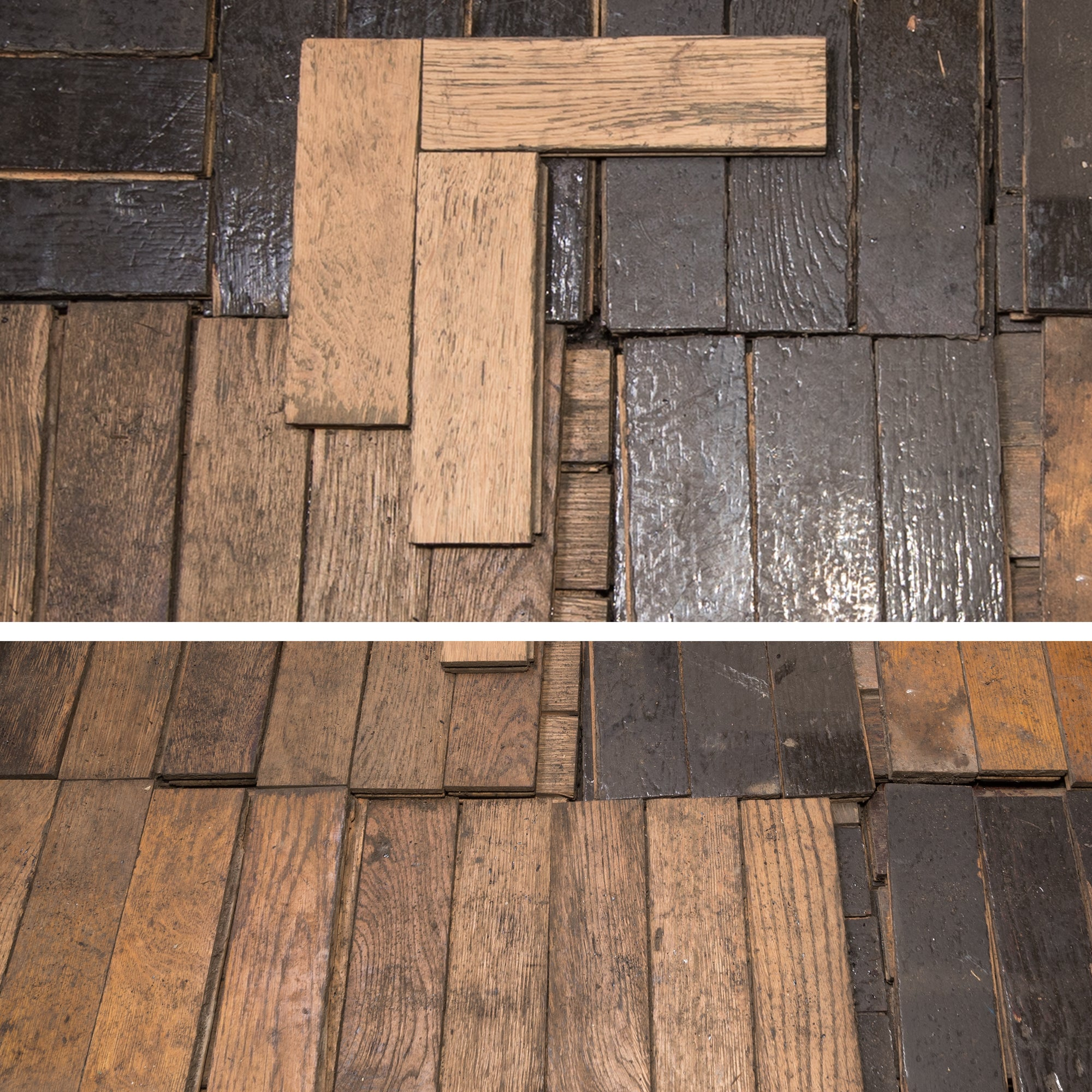 Antique Reclaimed Oak Parquet Flooring 8m²