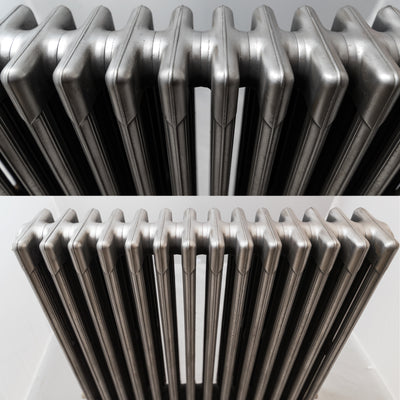 Antique 4 Column Polished Cast Iron Radiator - The Architectural Forum