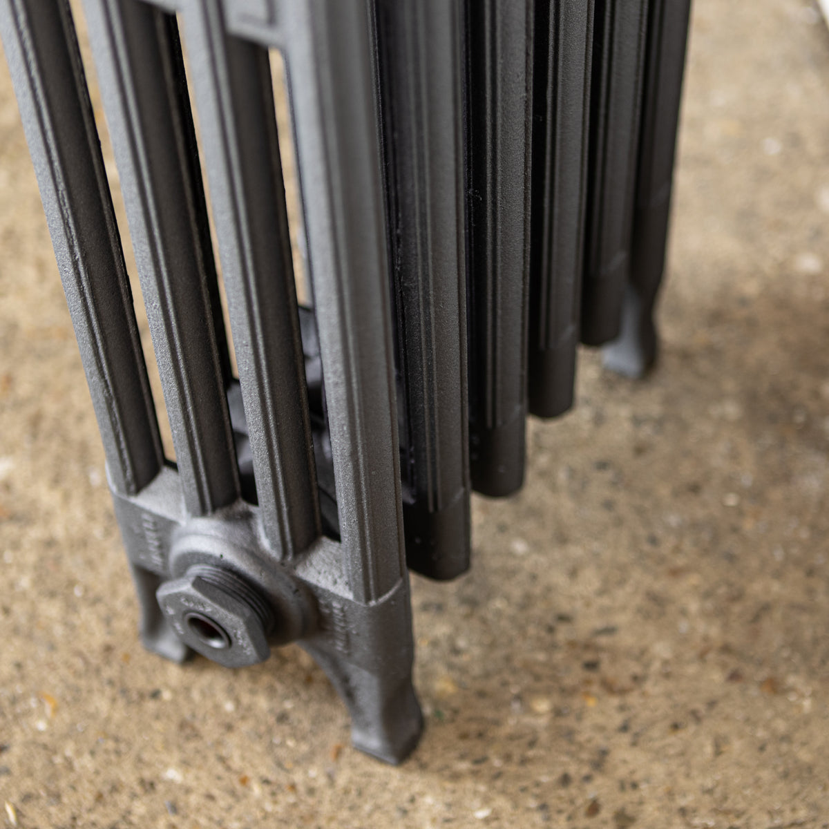 Fully Restored Cast Iron Radiator 4 Column, (76cm Tall x 34cm Long ) | The Architectural Forum
