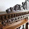 carved oak shelf and mirrors