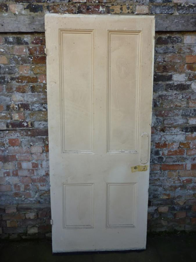 Antique Reclaimed Four Panel Pine Door - 202cm x 86cm - The Architectural Forum
