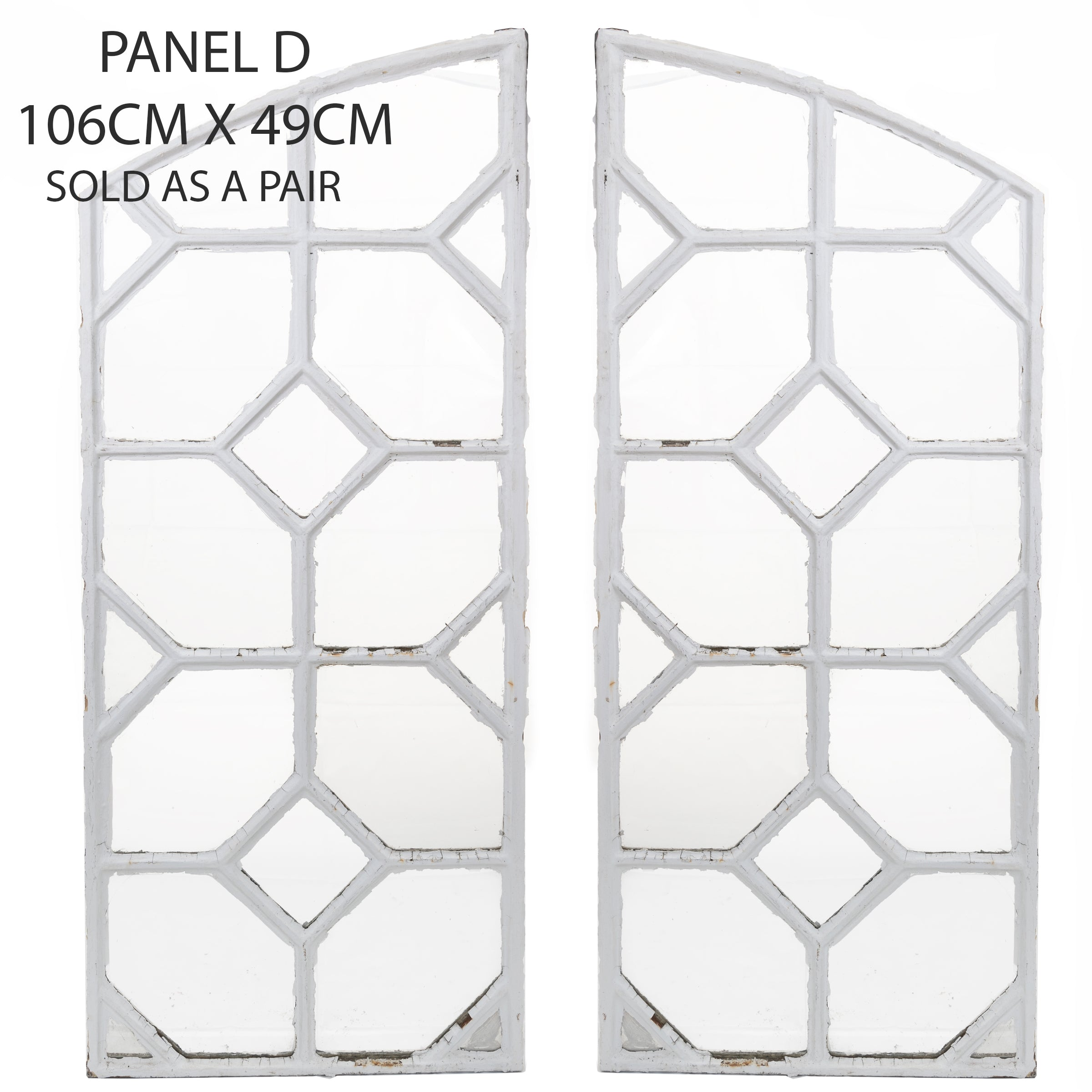 Reclaimed Late 19th Century Crittall Style Honeycomb Window Panels - D