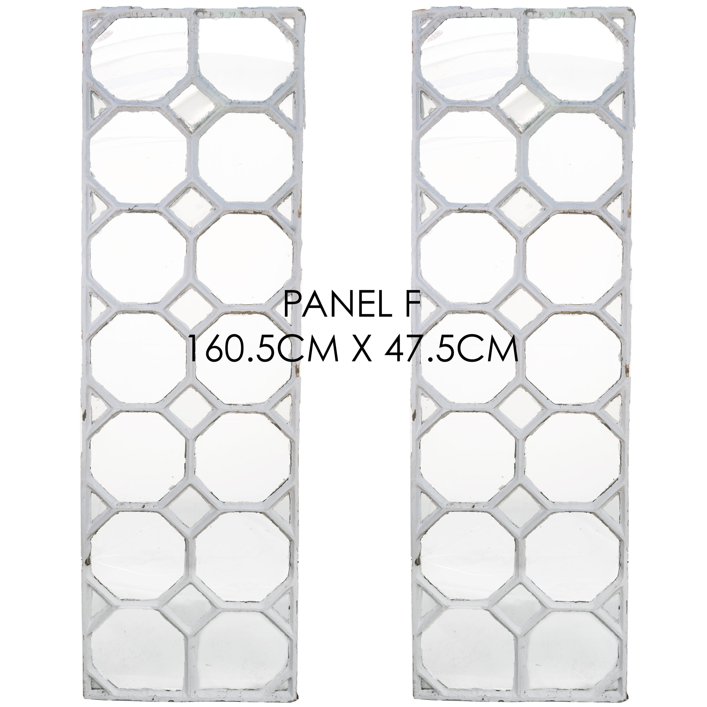 Reclaimed Late 19th Century Crittall Style Honeycomb Window Panels - F