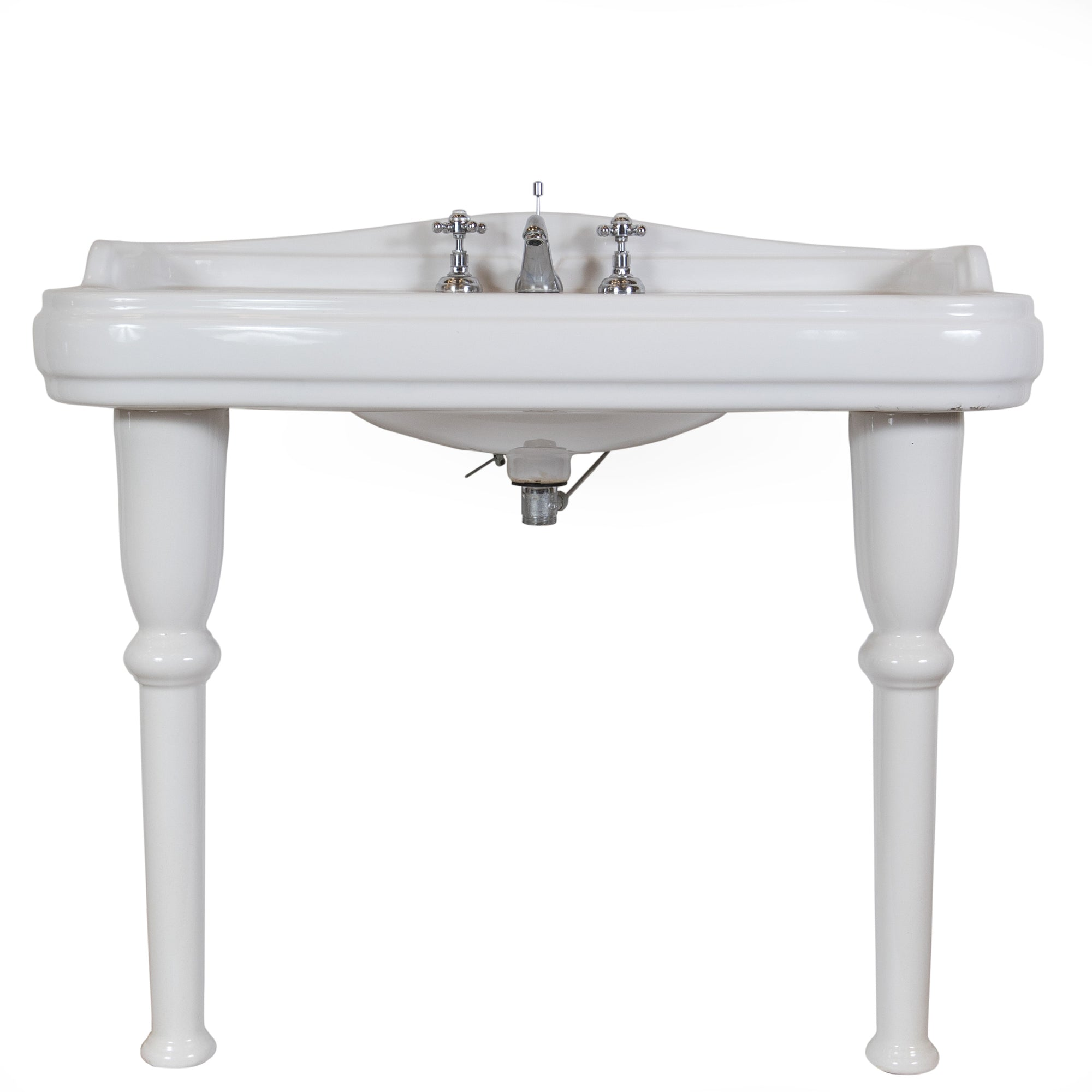 Reclaimed Pierre Cardin Porcelain Sink with Legs
