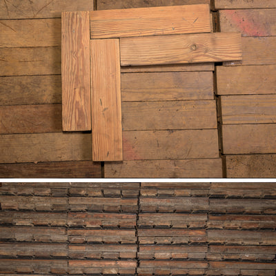 Antique Reclaimed Pine Parquet Flooring 53m² Available - The Architectural Forum