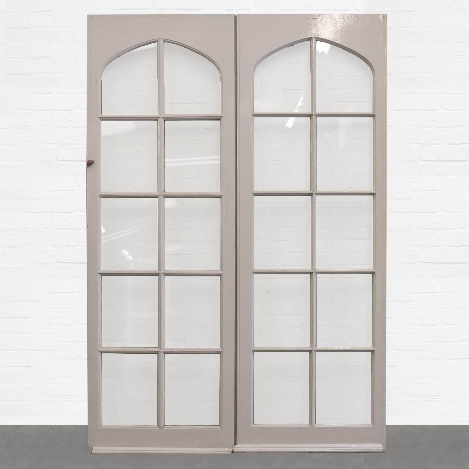 Antique Pine Glazed Double Doors - The Architectural Forum