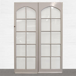 Antique Pine Glazed Double Doors