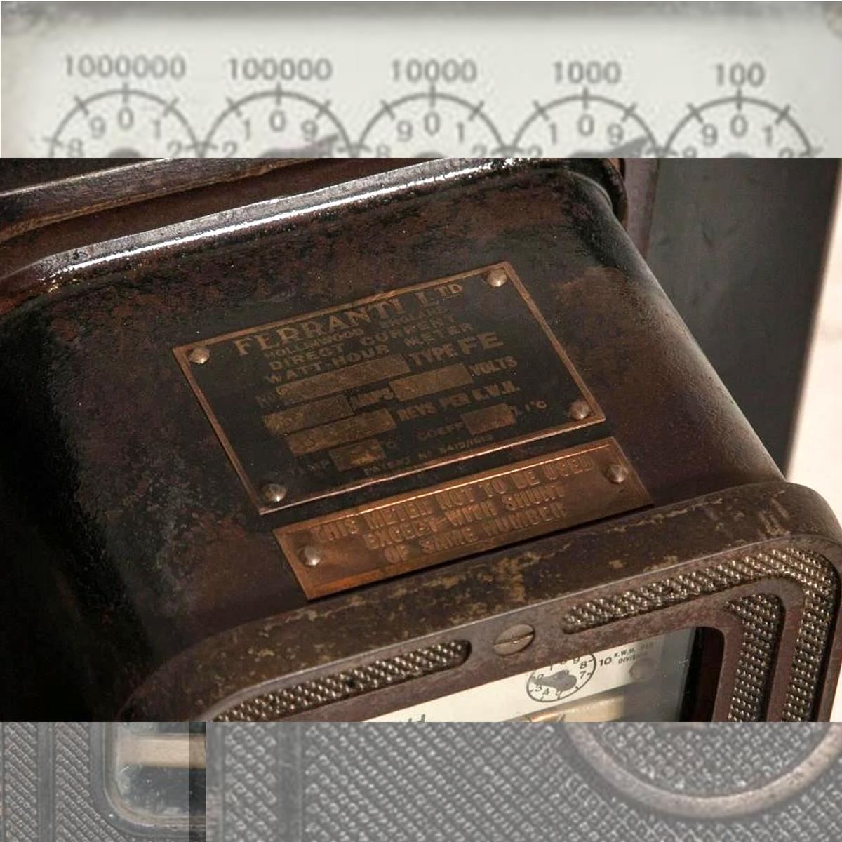 Vintage Ferranti Electric Meter from Pinewood Studios Power Station | The Architectural Forum