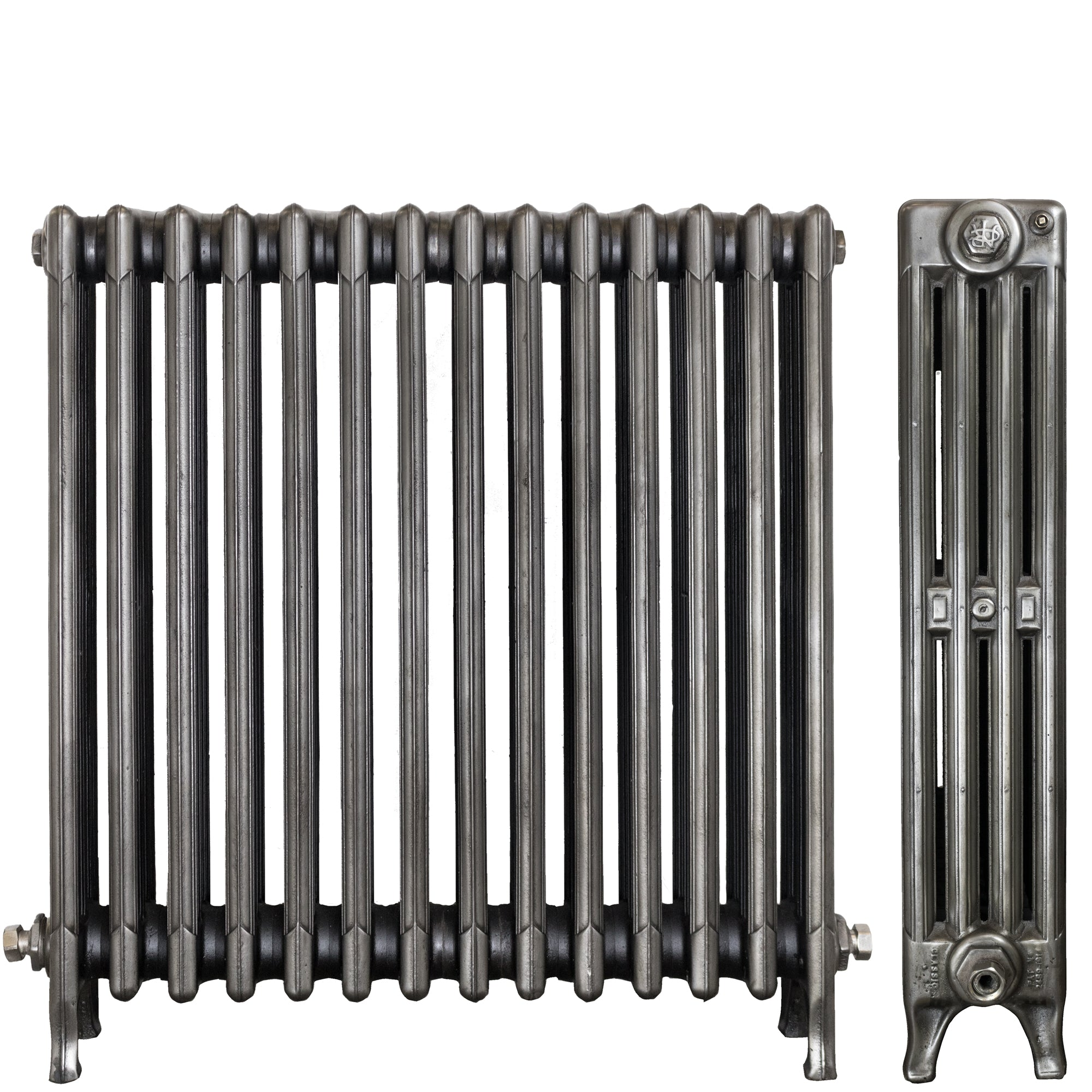 Restored Ideal Cast Iron Radiator 4 Columns 14 Sections (76cm tall)