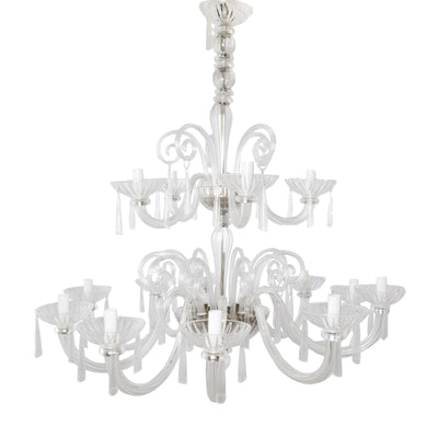 Reclaimed Clear Glass 15 Arm Chandelier - architectural-forum
