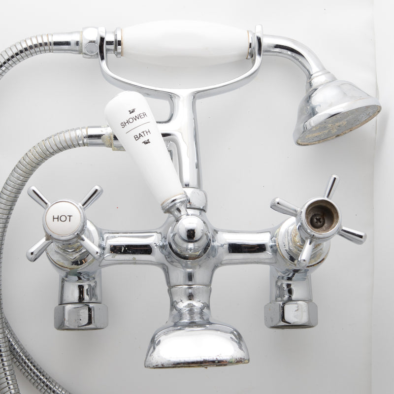 Reclaimed Chrome Mixer Bathroom Taps