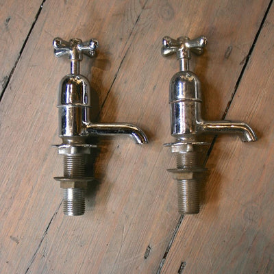 Reclaimed Nickel and Chrome plated taps - architectural-forum