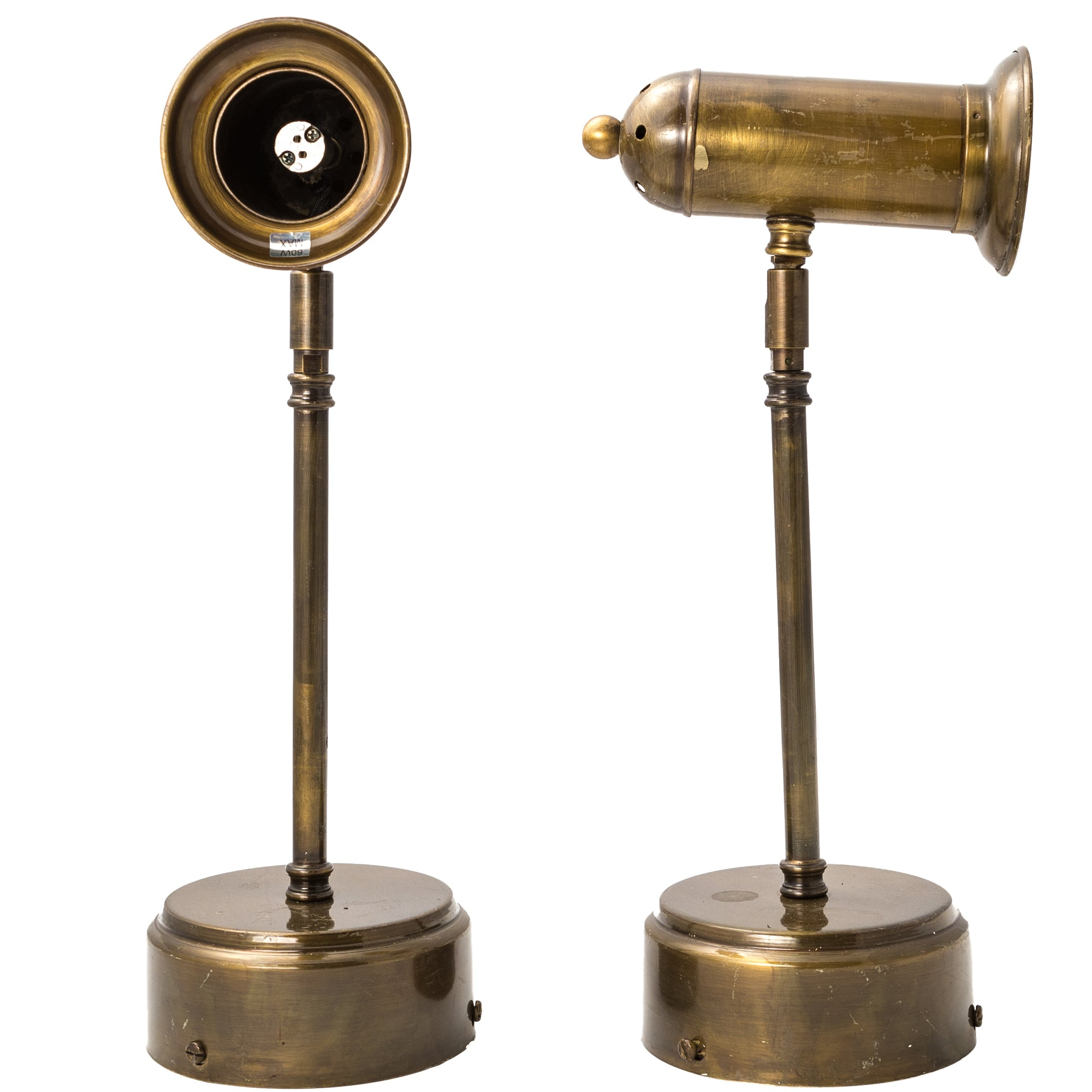 Pair of Reclaimed Brass Desk Lamps