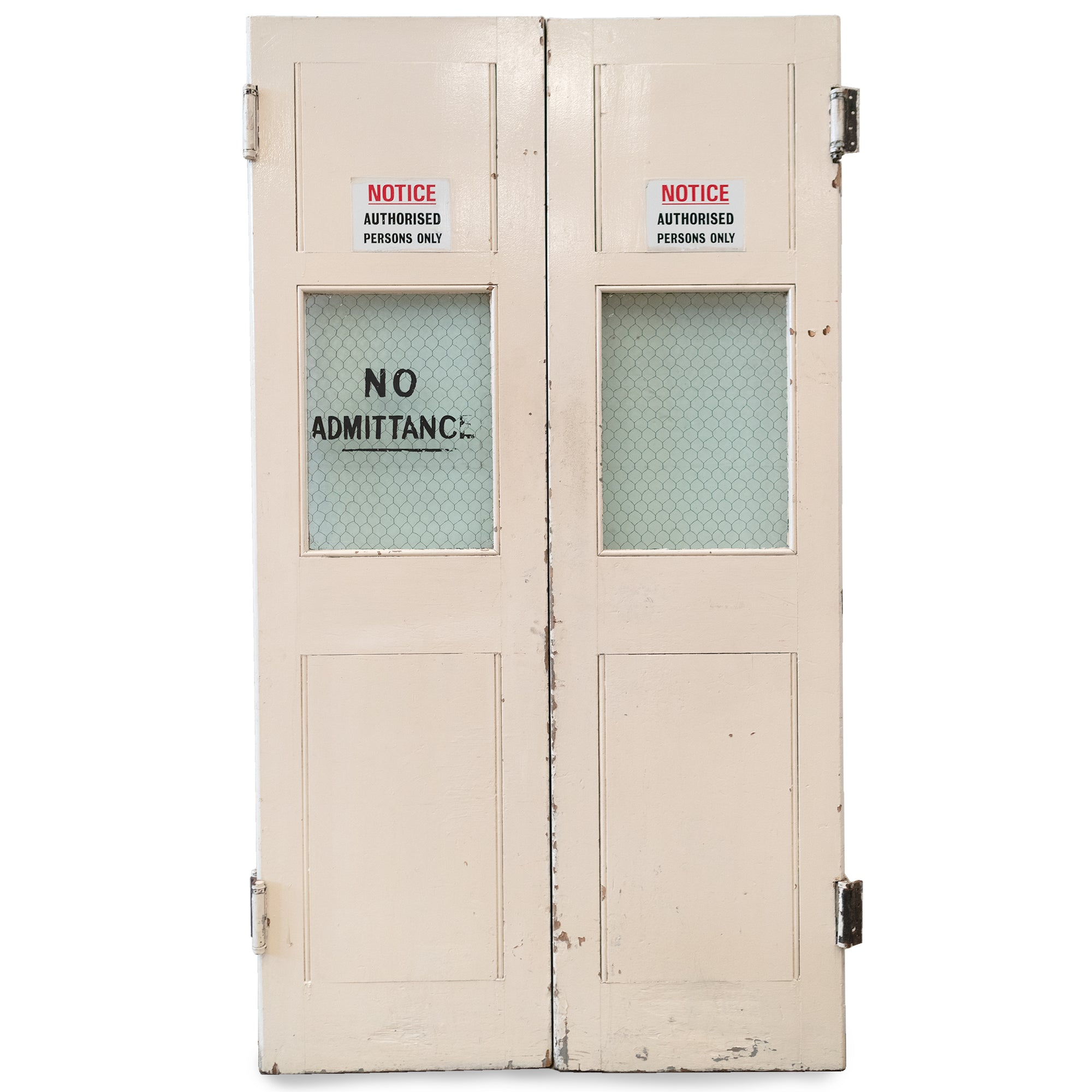 Glazed Emergency Exit Warehouse Doors 212cm x 117cm