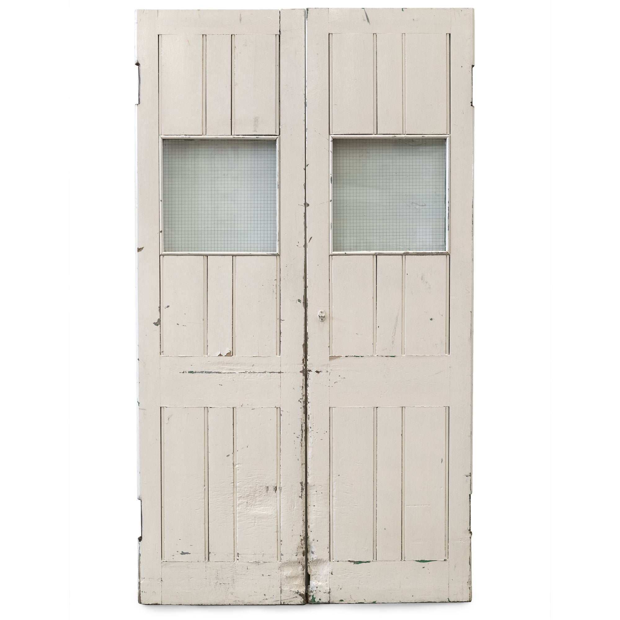 Reclaimed Glazed Emergency Exit Warehouse Doors 228cm x 128cm | The Architectural Forum