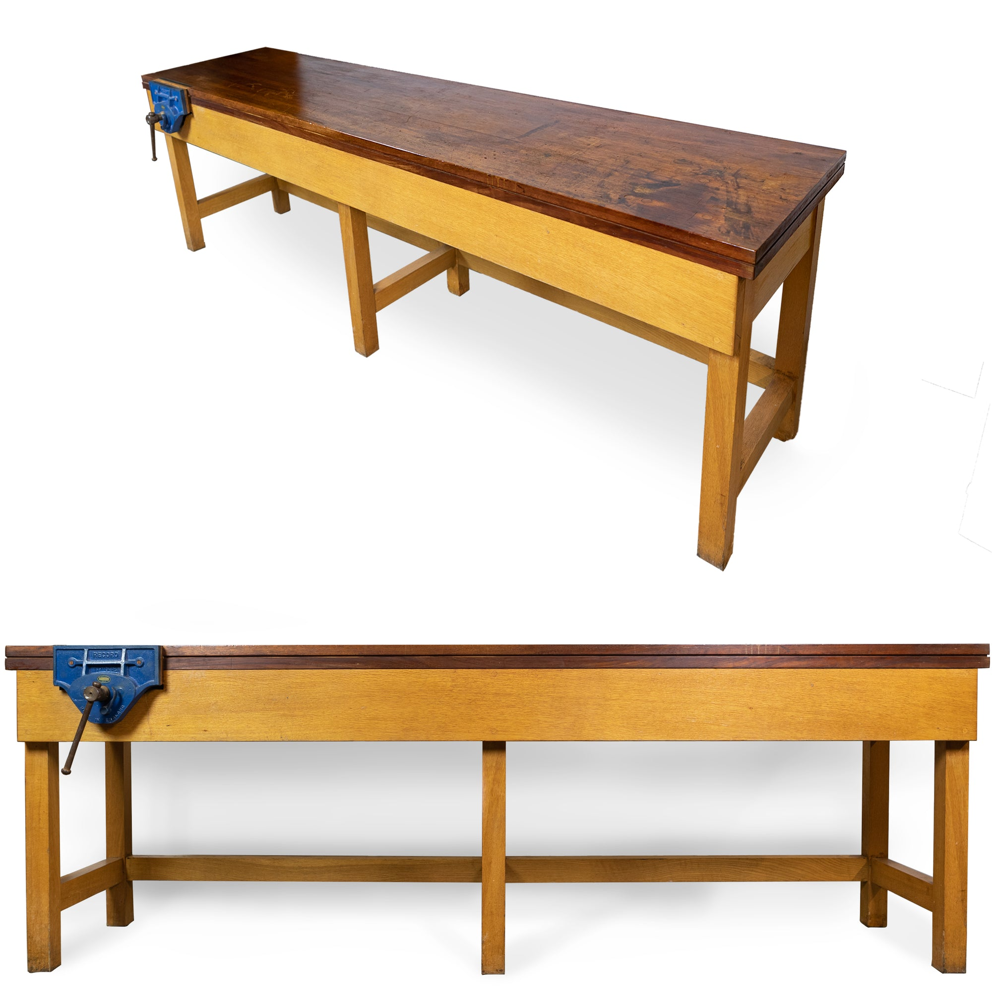 Industrial Antique Teak and Oak Workbench | The Architectural Forum