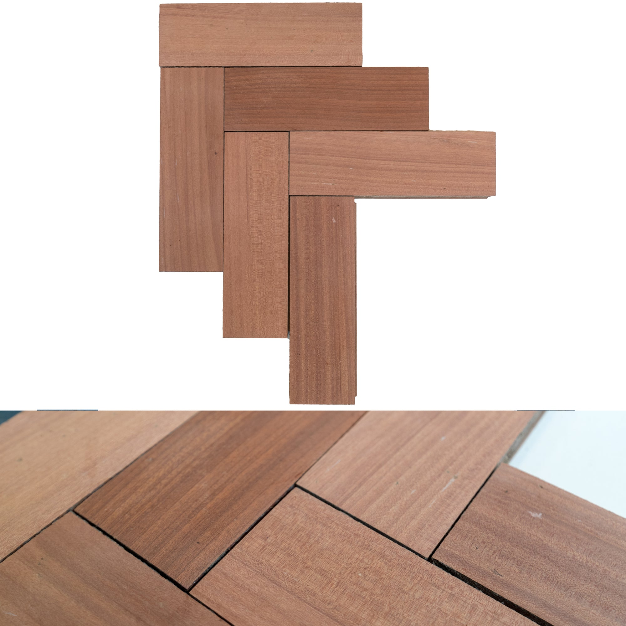 Reclaimed Sapele Parquet Flooring 180m² Available