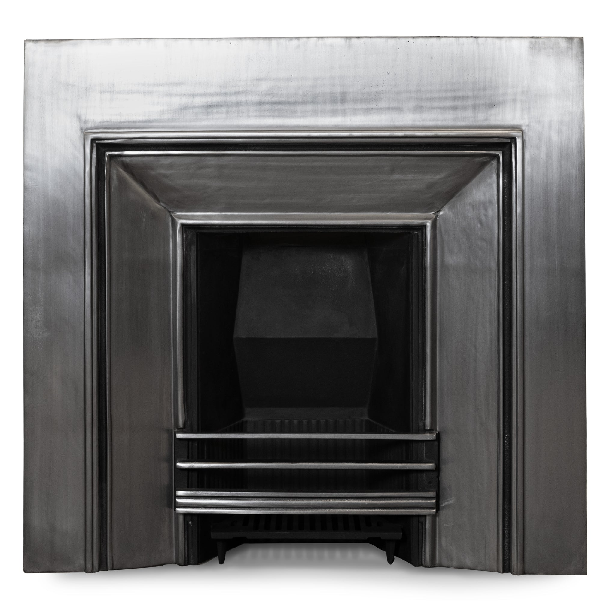 Reclaimed Polished Cast Iron Register Grate Fireplace Insert | The Architectural Forum