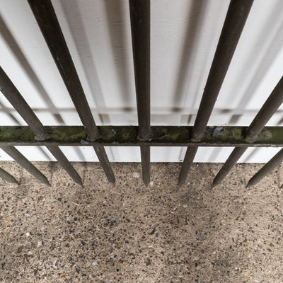 Reclaimed Double Spiked Galvanised Iron Railings - architectural-forum
