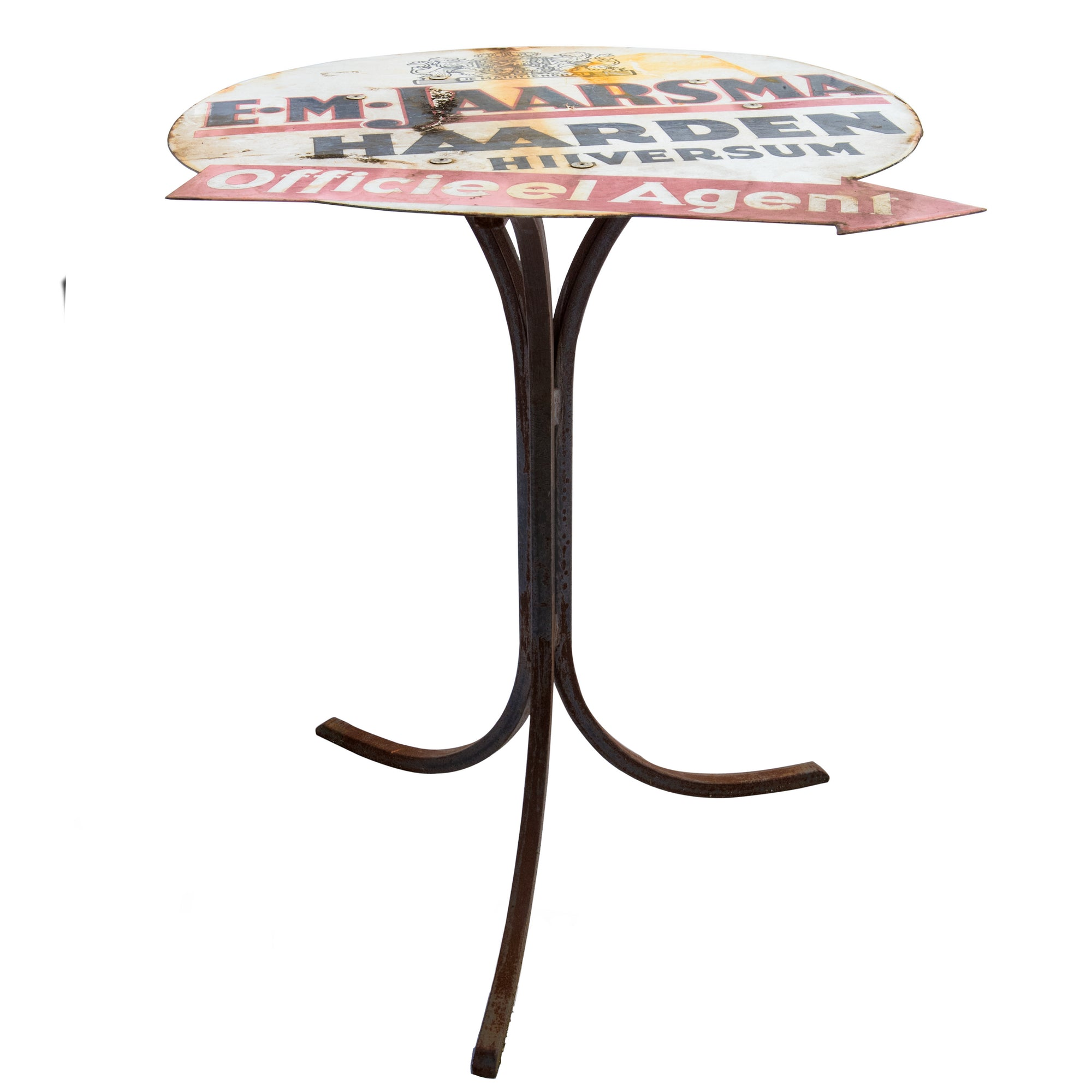 Upcycled Metal Garden Table - architectural-forum