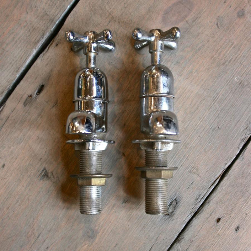 Reclaimed Nickel and Chrome plated taps
