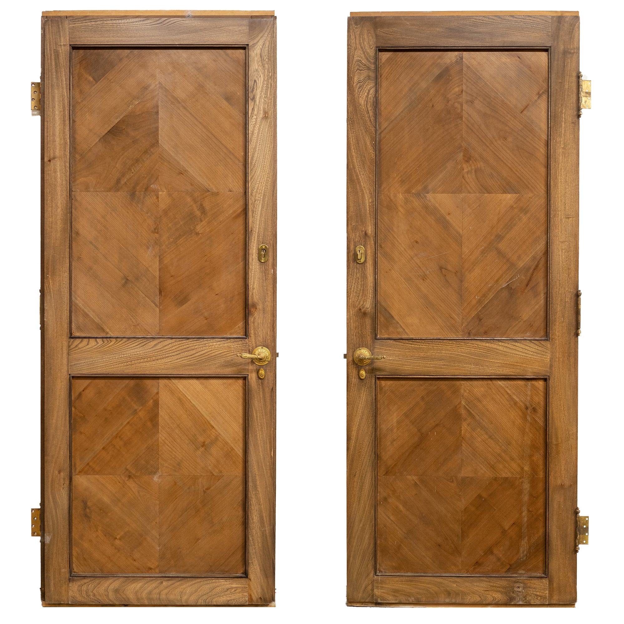 Reclaimed Tulip Wood Two Panel Door - 210cm x 84cm | The Architectural Forum