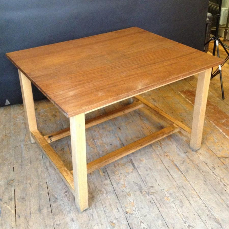Large Reclaimed Vintage Iroko Top Wooden Tables - architectural-forum