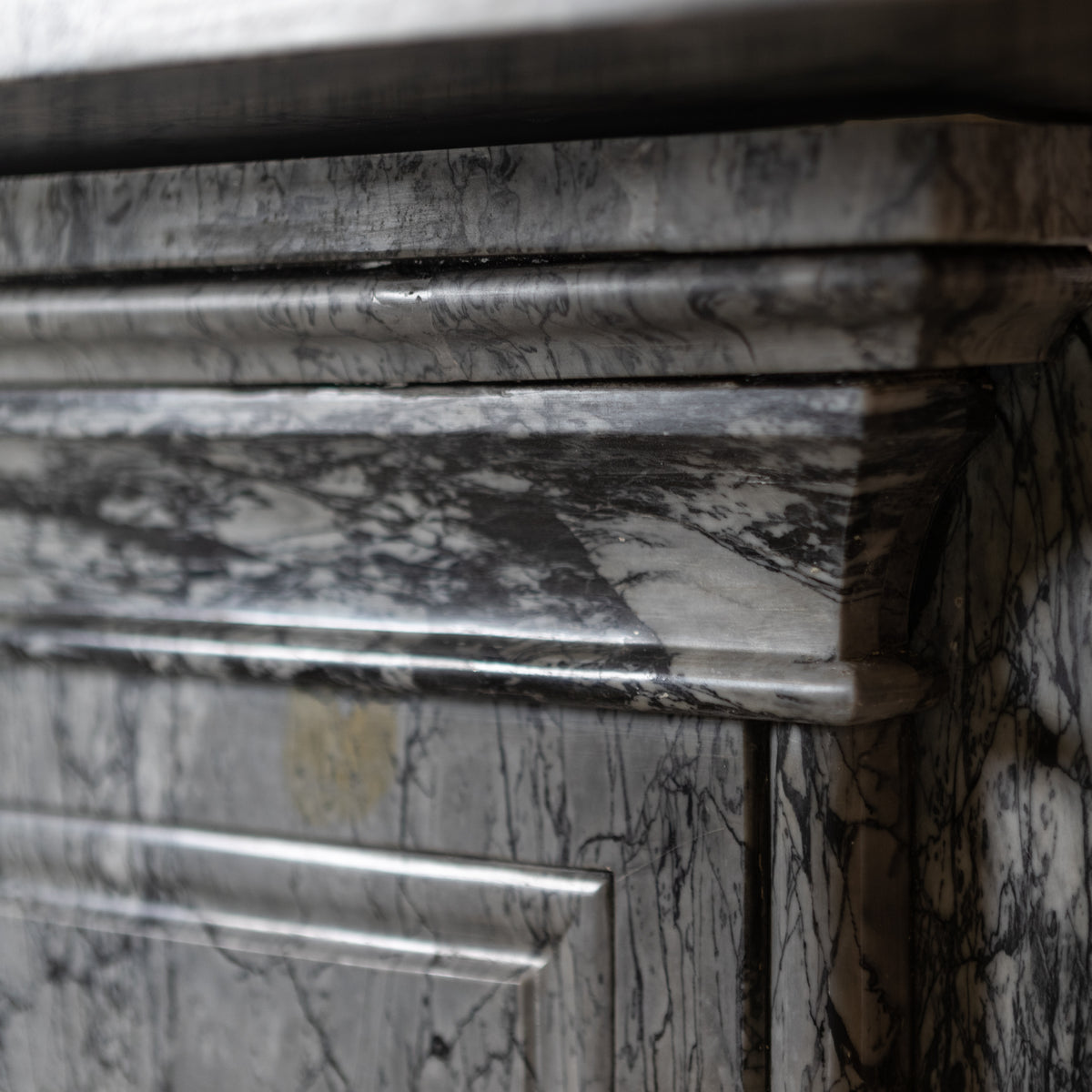 Antique Victorian Grey Bardiglio Marble Arched Chimneypiece | The Architectural Forum