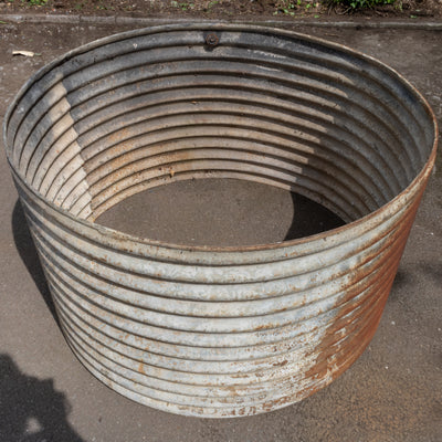 Reclaimed Culvert Corrugated Pipe Planter