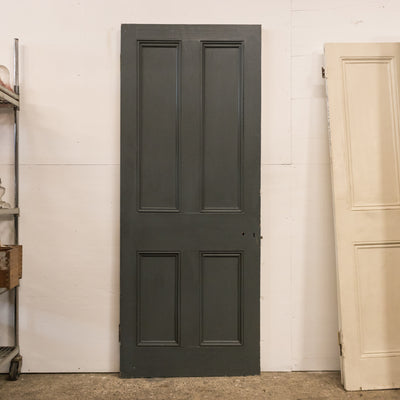 Antique Victorian 4 Panel Door - 202.5cm x 81cm
