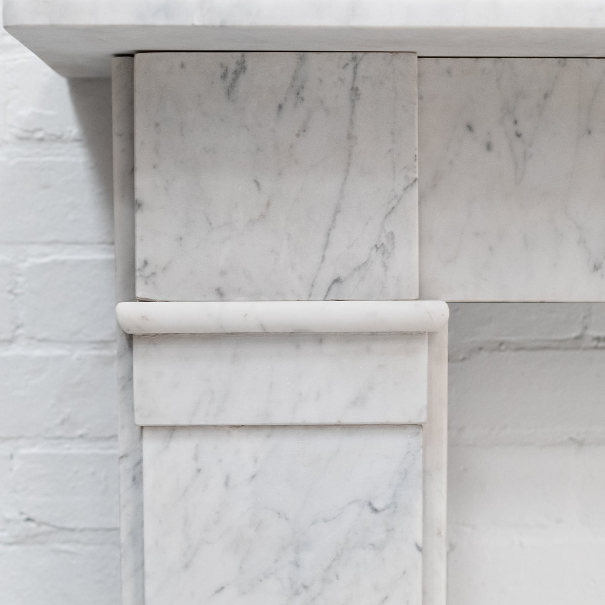 Antique Late Georgian Early Victorian Carrara Marble Chimneypiece | The Architectural Forum