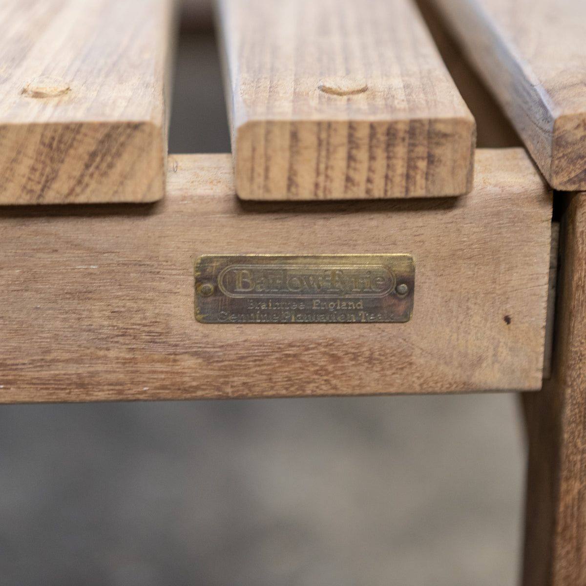 Reclaimed Barlow Tyrie Teak Garden Bench & Table Set | The Architectural Forum