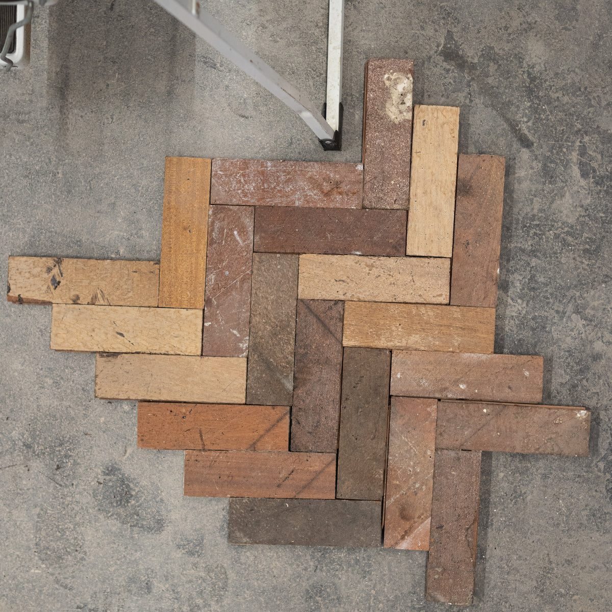 Reclaimed Mahogany Parquet Flooring (600m² Available) | The Architectural Forum