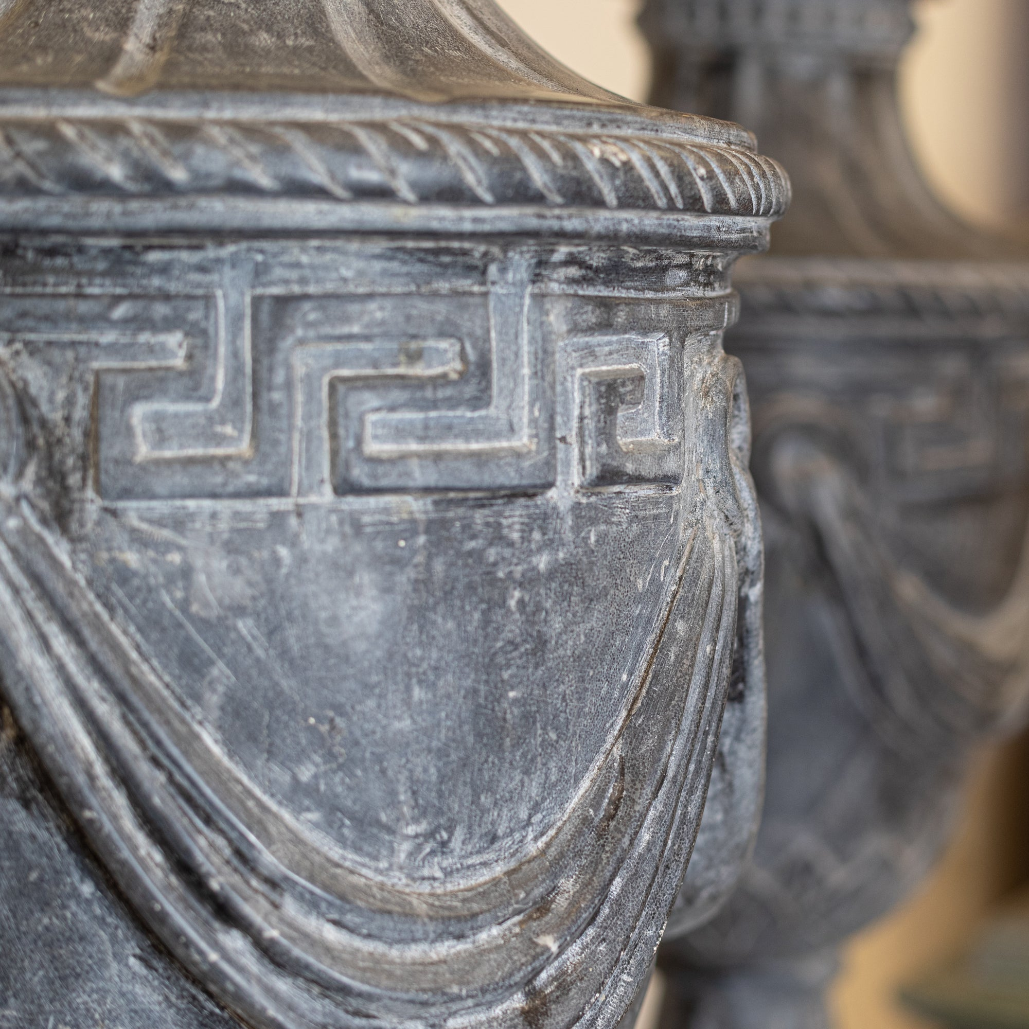 Reclaimed Roman Style Marble Urns on Plinths | set of four | The Architectural Forum