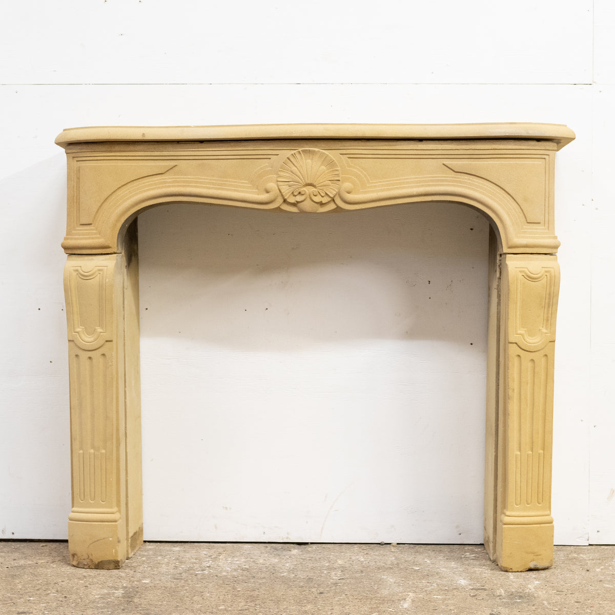 Reclaimed Stone French Style Louis Chimneypiece with Hearth | The Architectural Forum