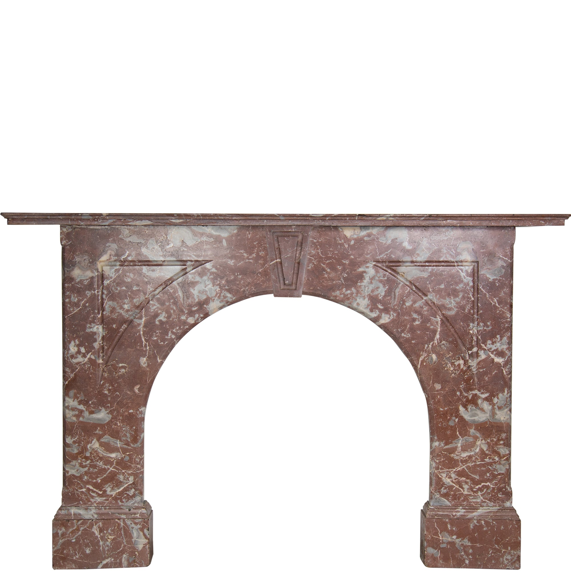 Antique Victorian Rouge Royal Marble Fireplace Surround - The Architectural Forum