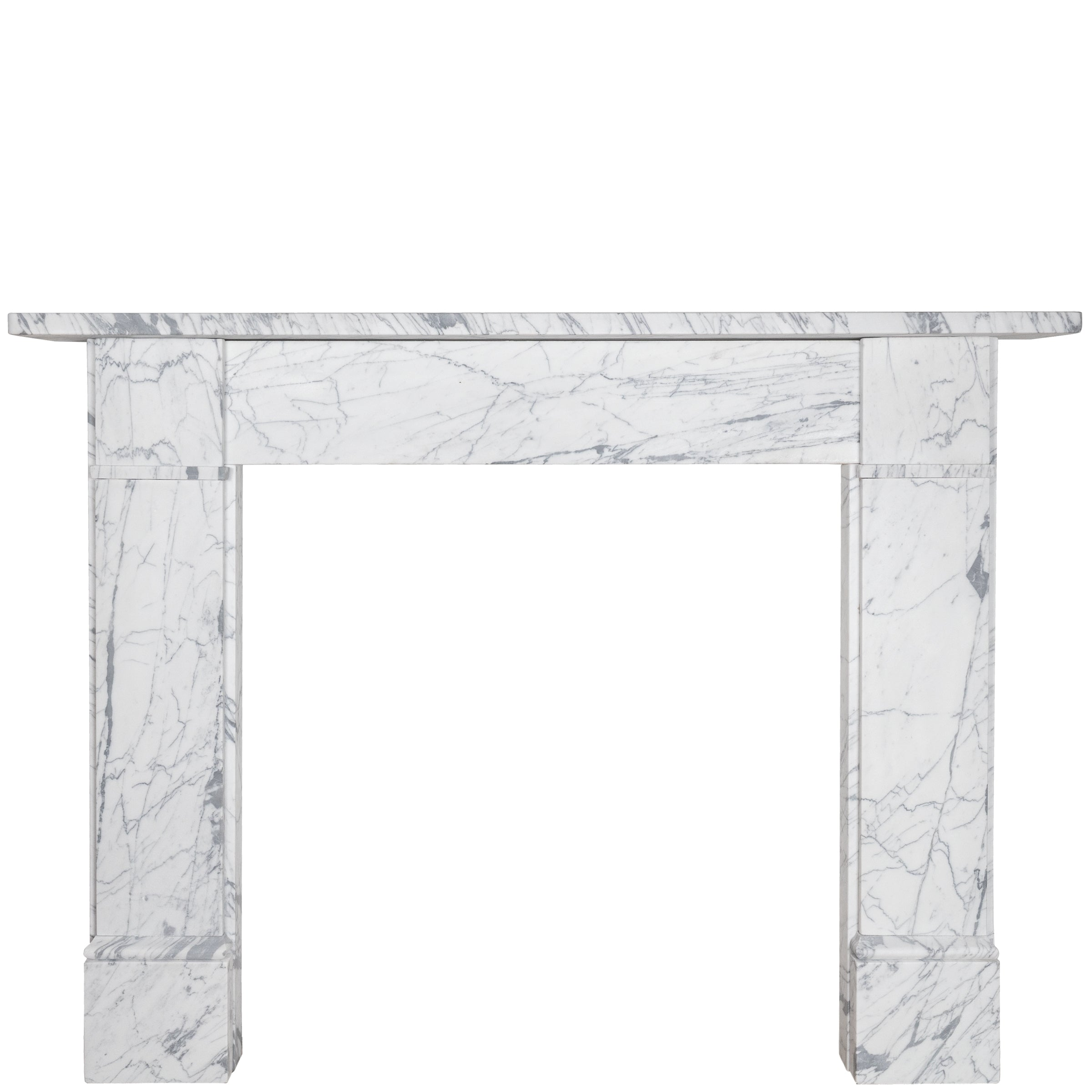 Georgian Style English Pencil Vein Marble Fireplace Surround The