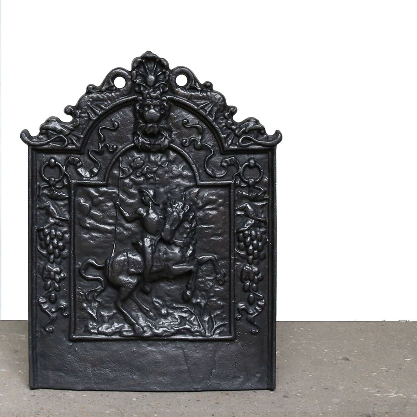 Antique Reclaimed Cast Iron Fireback - architectural-forum