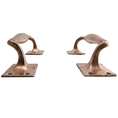 Art Deco Rose Brass Door Pull Handles - The Architectural Forum