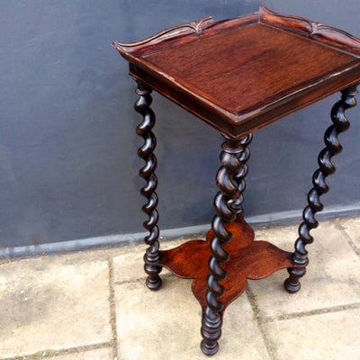 Antique Rosewood Side Table - The Architectural Forum