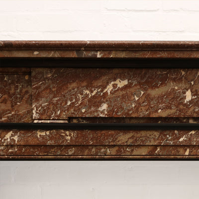 rouge royal Belgian marble fire surround