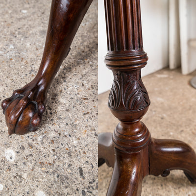 Antique Pie-Crust Tripod Table with Claw & Ball Feet - architectural-forum